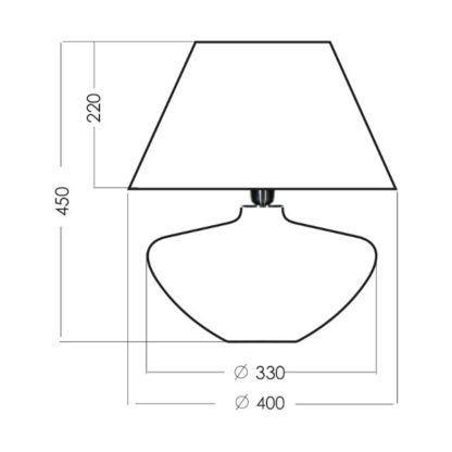 efektowna lampa stołowa