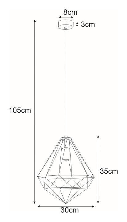 Stylowa lampa wisząca Marko – druciany klosz w kształcie
