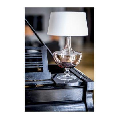 szklana lampa stołowa styl nowojorski