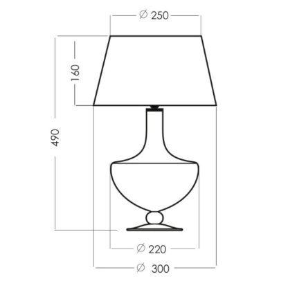 szklana lampa stołowa luksusowa