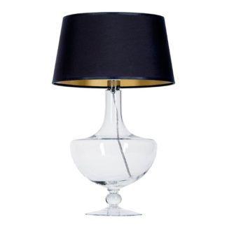 Szklana lampa stołowa Oxford - czarny abażur