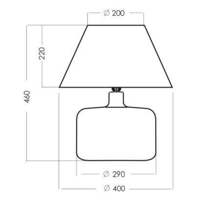 stylowa lampa stołowa ze szła