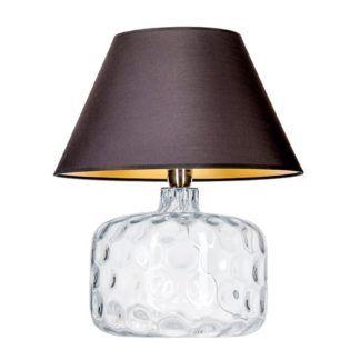 Szklana lampa stołowa Paris - czarny abażur