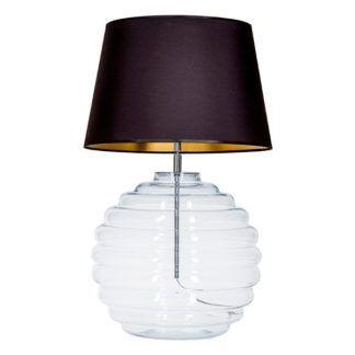 Szklana lampa stołowa Saint Tropez - czarny abażur