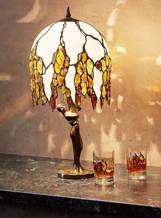 światło z lampy bursztynowej kolorowe