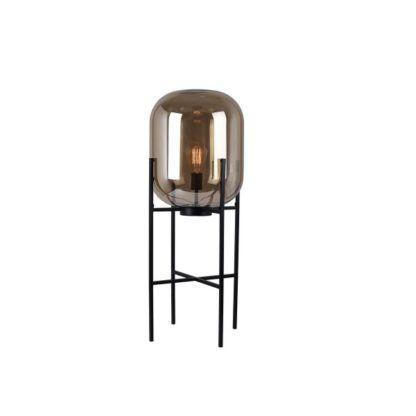 lampa podłogowa ze szklaną kulą