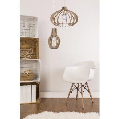 drewniane lampy wisząca styl skandynawski