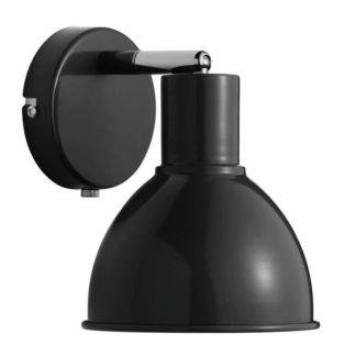 Skandynawski kinkiet Pop - Nordlux - czarny, metalowy klosz