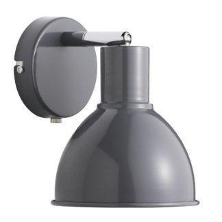 Szary kinkiet Pop - Nordlux - metalowy, regulowany klosz