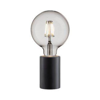 Minimalistyczna lampa stołowa Siv - Nordlux - czarna oprawa