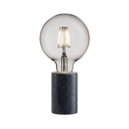 designerska lampa stołowa marmurowa