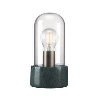 Designerska lampa stołowa Siv - Nordlux - marmur, szkło