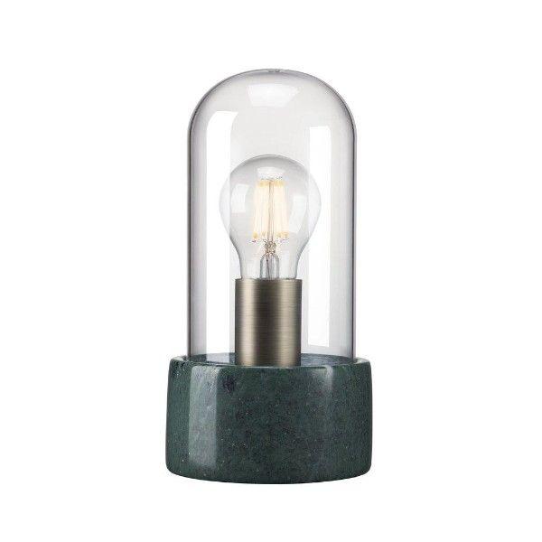 lampa stołowa marmur i szklana kopuła