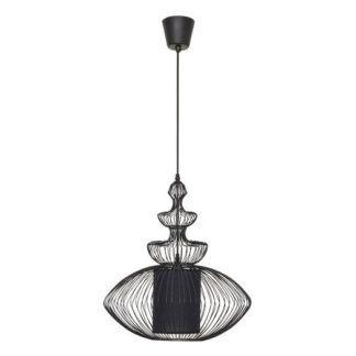 Czarna lampa wisząca Aida - oryginalny kształt