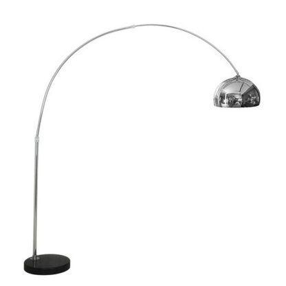 Srebrna lampa podłogowa Cosmo - nowoczesna