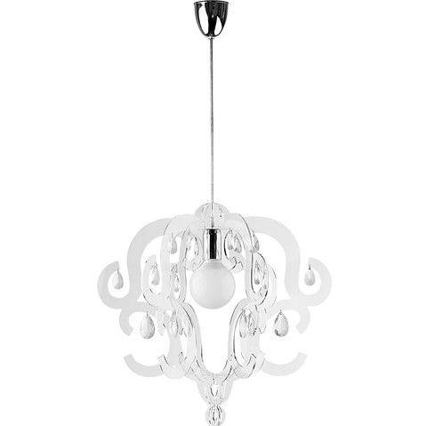 lampa wisząca glamour z kryształkami