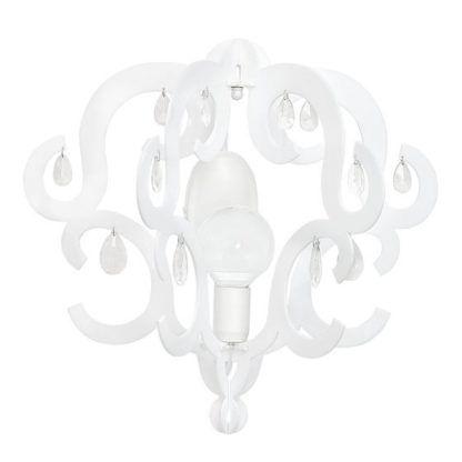 biały kinkiet glamour z kryształkami