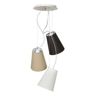 Lampa wisząca Retto - beż, brąz, nowoczesna