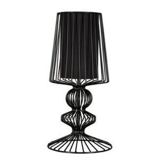 Czarna lampa stołowa Aveiro - nowoczesna, metalowa