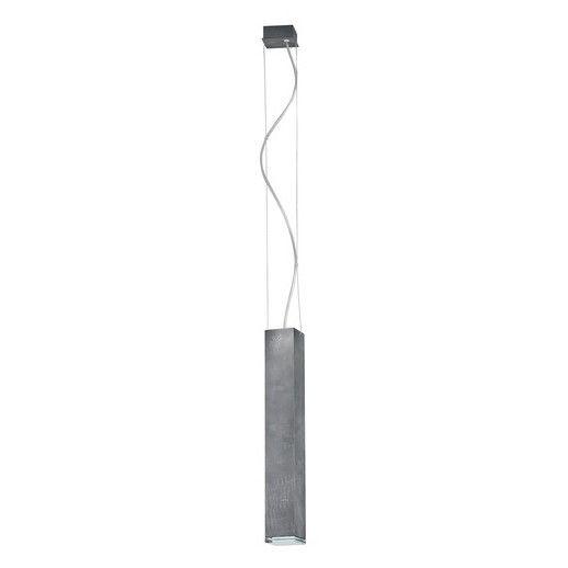 lampa wisząca wąski klosz beton aranzacja