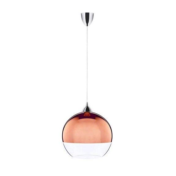 szklana lampa wisząca w połysku aranżacja nowoczesna