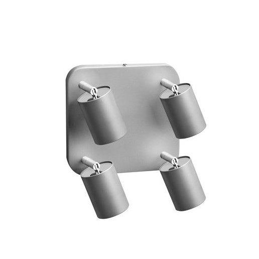 Kwadratowa lampa sufitowa Eye Spot - srebrne reflektory