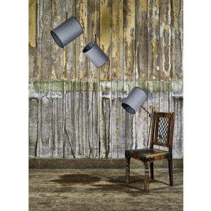lampy z szarym abażurem seria