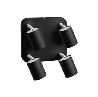 Czarna lampa sufitowa Eye Spot - 4 reflektory