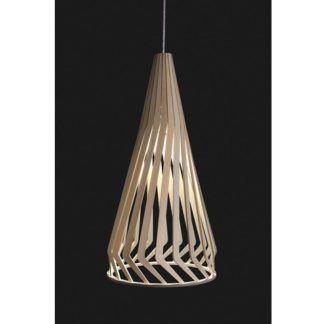 Skandynawska lampa wisząca Bio - stożkowy klosz