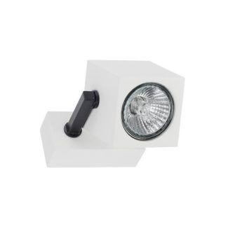 Nowoczesny reflektor Cuboid - geometryczna forma, biały