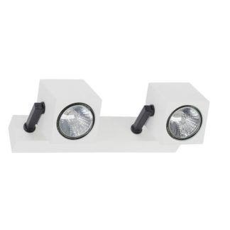 Podwójny reflektor Cuboid - biało-czarna oprawa