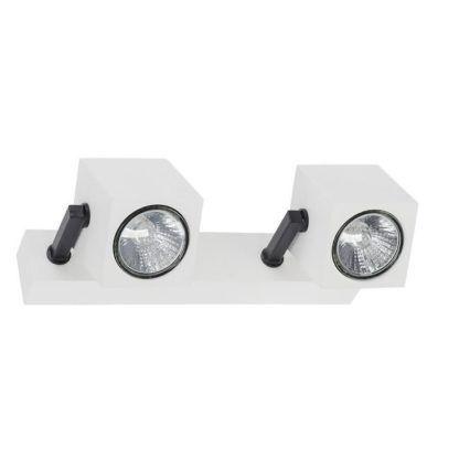 podwójny nowoczesny reflektor biel-czerń