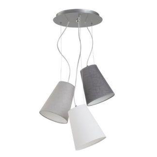 Szara lampa wisząca Retto - 3 abażury, nowoczesna