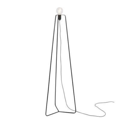 industrialna lampa podłogowa bez klosza