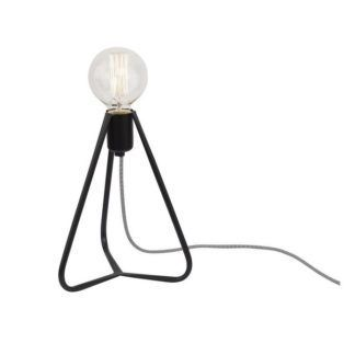 Czarna lampa stołowa Simple - trójnóg