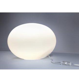 Efektowna lampa stołowa Nuage M - szklana