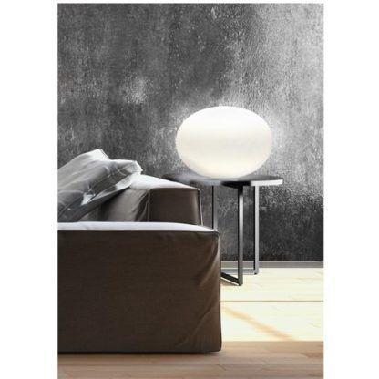 lampa stołowa szklana kula
