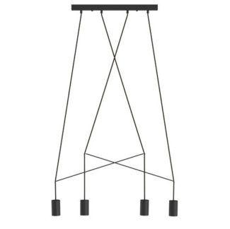 Czarna lampa wisząca Imbria - nowoczesna