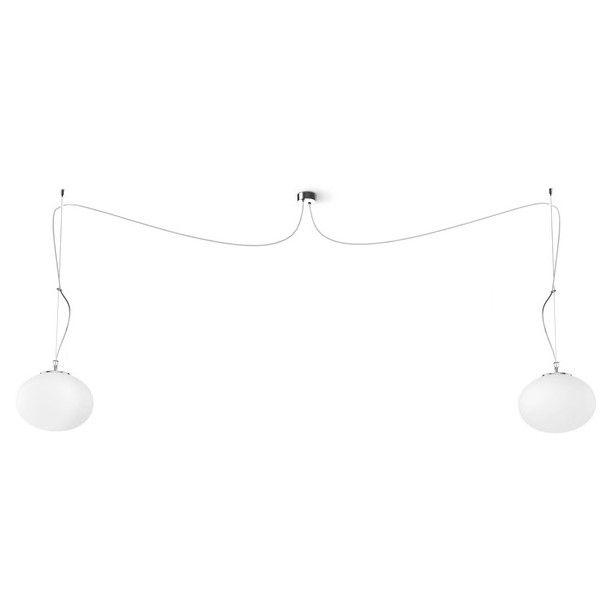 podwójna lampa wisząca szklane klosze