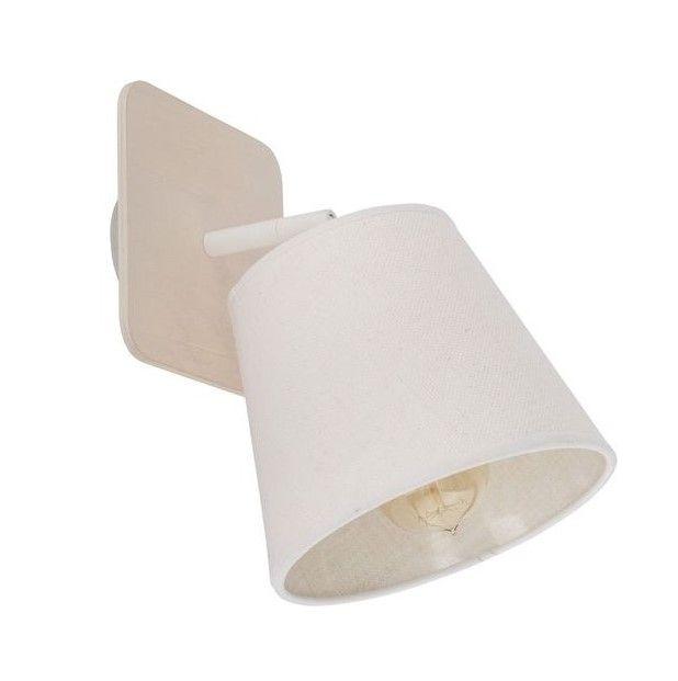 lampa sufitowa z beżowym abażurem jasna
