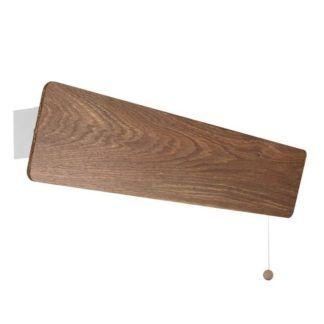 Drewniany kinkiet Oslo - podłużny