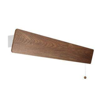 Długi kinkiet Oslo - drewniany, scandi