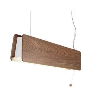 Drewniana lampa wisząca Oslo - podłużna