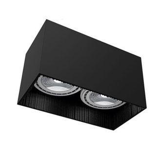 Czarne oczko stropowe Groove - prostokąt