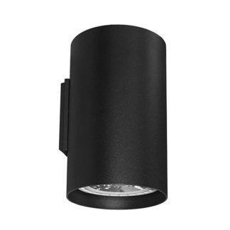 Czarny kinkiet Tube - 2 źródła światła, metalowy