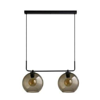 Podwójna lampa wisząca Monaco - beżowe klosze ze szkła