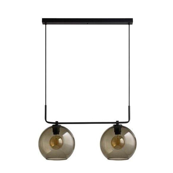 lampa wisząca do industrialnych wnętrz szklane klosze aranżacja