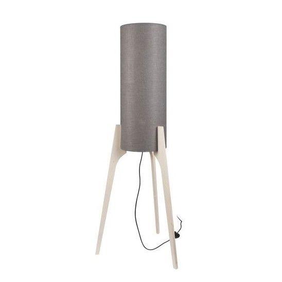 lampa podłogowa drewniany trójnóg