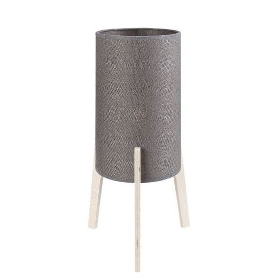 Designerska lampa stołowa Neo - szary abażur