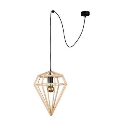 lampa wisząca w kształcie diamentu